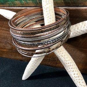 17 piece set of Bangle Bracelets